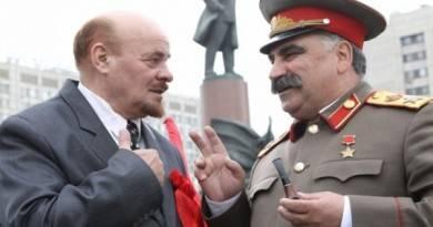 драка ленина и сталина