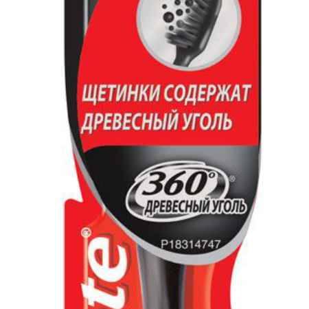 Купить Colgate Зубная щетка 360 С древесным углем средняя