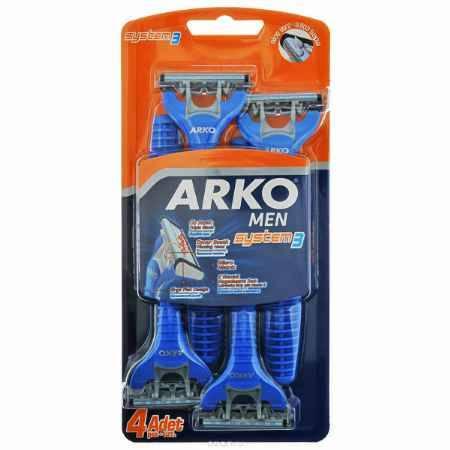 Купить Arko MEN Станок для бритья System3 3 лезвия 4шт