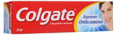 Купить Colgate Зубная паста Бережное отбеливание 50 мл