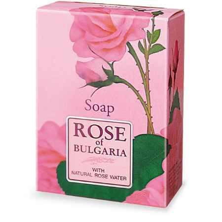 Купить Rose of Bulgaria Мыло с частичками лепестков роз, 100 г