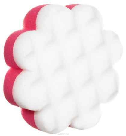 Купить Курносики Мочалка с массажным слоем Цветок цвет розовый белый