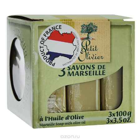 Купить Le Petit Olivier Мыло марсельское, с маслом оливы, 3 х 100 г