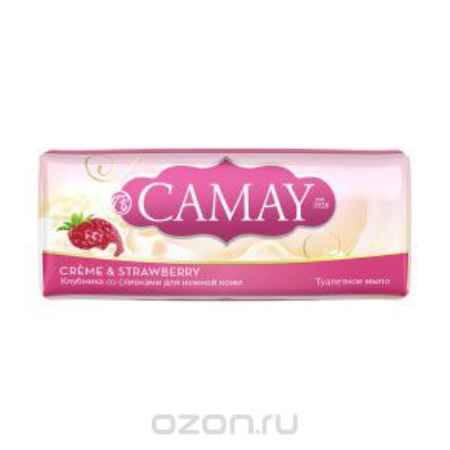 Купить Camay Твердое мыло клубника и сливки 90гр