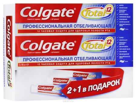 Купить Colgate Зубная паста TOTAL12 Профессиональная отбеливающая 100 мл
