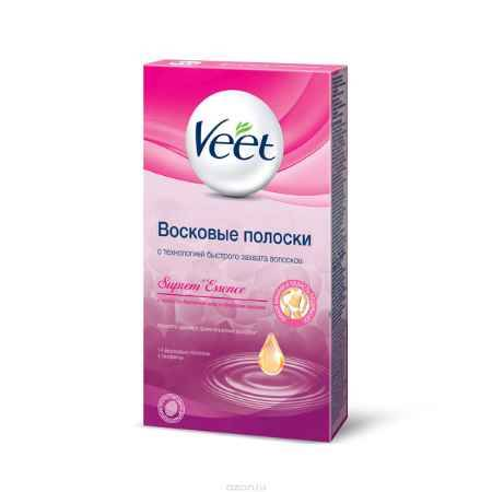 Купить Veet Восковые полоски для чувствительных участков тела с ароматом бархатной розы и эфирными маслами, 14 шт, 4 салфетки