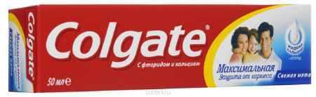 Купить Colgate Зубная паста Максимальная защита от кариеса Свежая мята 50 мл
