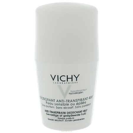 Купить Vichy Дезодорант шариковый 48 часов, для очень чувствительной кожи, 50 мл