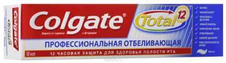 Купить Colgate Зубная паста TOTAL12 Профессиональная отбеливающая 50 мл