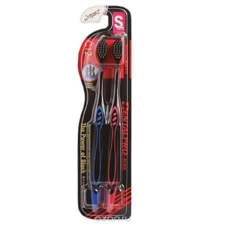 Купить Dentalpro Зубная щетка Black Compact Head, 2 шт, средней жесткости