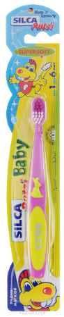Купить Silca Putzi Зубная щетка Baby от 1 до 6 лет цвет сиреневый желтый