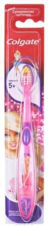 Купить Colgate Зубная щетка Smiles для девочки Barbie детская старше 5 лет, цвет розовый, фиолетовый, барби в платье