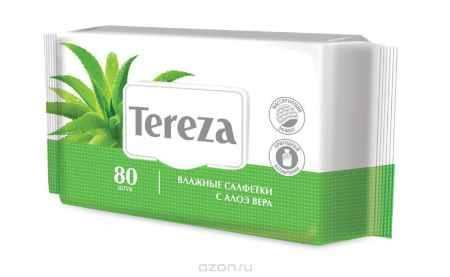 Купить Tereza Влажные очищающие салфетки с Алоэ, 80 шт