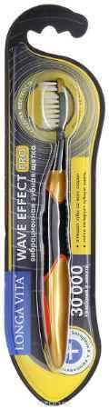 Купить Лонга Вита Вейф Эффект Про зубная щетка вибрационная (100412), цвет: черный/золотой