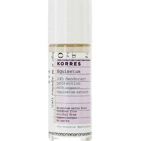 Купить Korres Дезодорант шариковый с экстрактом хвоща, для очень чувствительной кожи, 30 мл