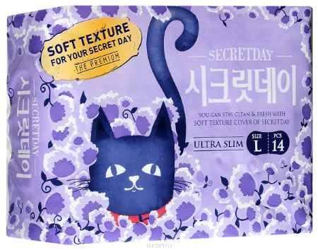 Купить Secret Day Ультратонкие дышащие органические прокладки 14 шт. (28 см)