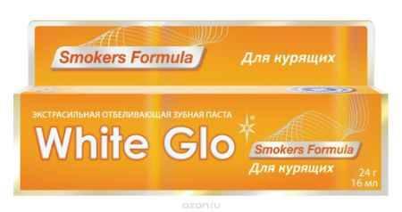 Купить White Glo Зубная паста, отбеливающая, для курящих, 24 г