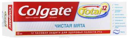 Купить Colgate Зубная паста TOTAL12 Чистая мята 100 мл