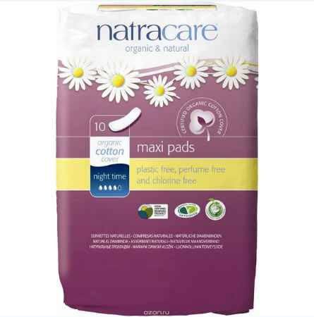 Купить Гигиенические прокладки без крылышек Natracare