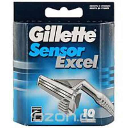 Купить Сменные кассеты для бритья Gillette Sensor Excel, 10 шт.