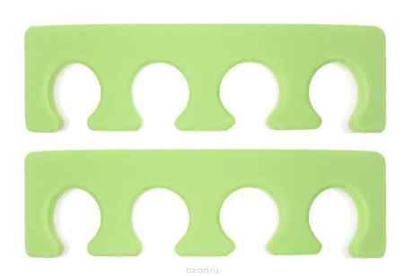 Купить CND Разделитель для пальцев ног, 2 шт, цвет: салатовый