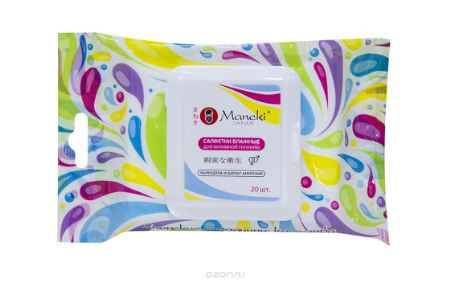 Купить Maneki Салфетки влажные Kaiteki для интимной гигиены с Календулой и Бархатом 20 шт.