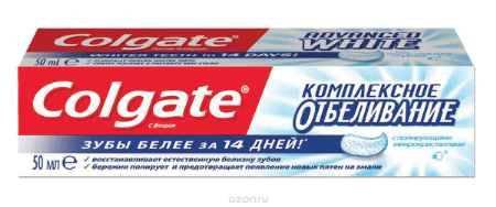 Купить Colgate Зубная паста Комплексная отбеливающая 50 мл