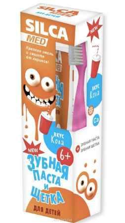 Купить Silca Med НАБОР Зубная паста со вкусом колы + щетка с 6 лет