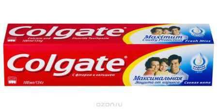 Купить Colgate Зубная паста Максимальная защита от кариеса Свежая мята 100 мл