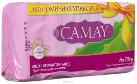 Купить Camay Твердое мыло алоэ 5 х 75гр