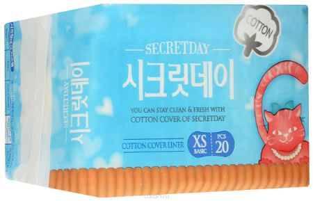 Купить Secret Day Ультратонкие дышащие органические ежедневные прокладки 20 шт. (15 см)