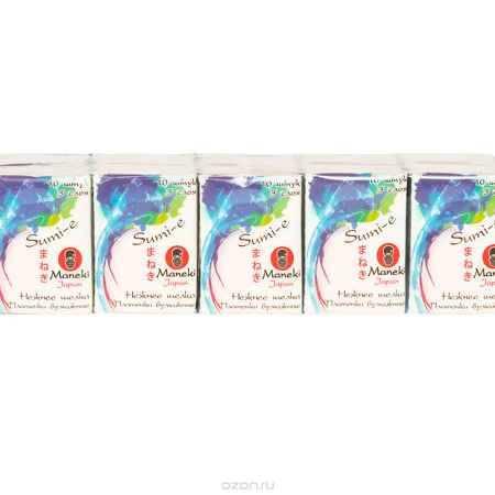 Купить Maneki Платочки бумажные Sumi-e 3 слоя, 10 шт. в пачке, без аромата, 10 пачек