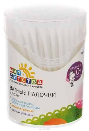 Купить Мир детства Ватные палочки в тубе 100 шт