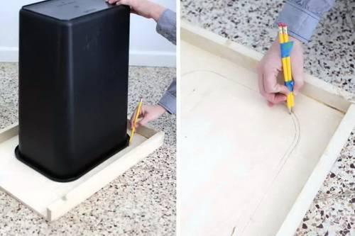 Мусорное ведро – оригами