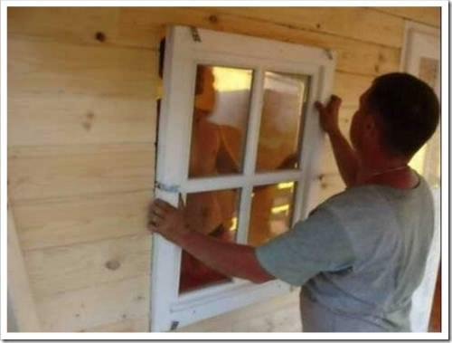 Установка ПВХ окна