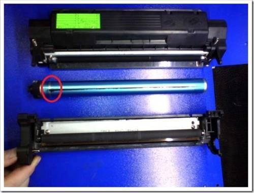 Пример заправки на чёрно-белом принтере