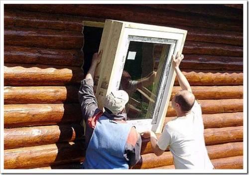 Принципы монтажа ПВХ окон в деревянном доме