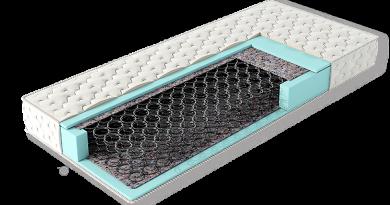 матрас на основе зависимого пружинного блока