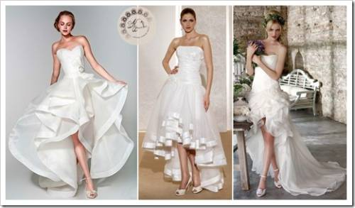 Комбинированная длина свадебного платья