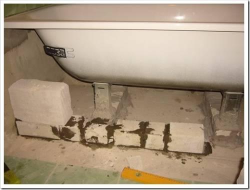От чего зависит высота установки ванны?