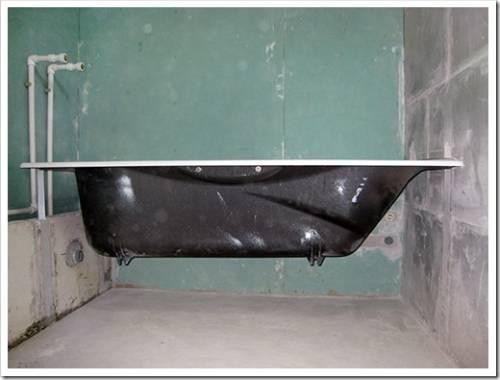 Фиксация стальных и акриловых ванн