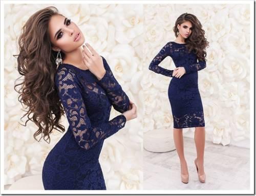 Платье длины миди – строгость и элегантность