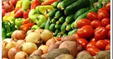 Различные группы овощей