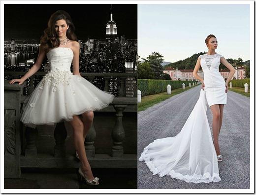 Детали короткого свадебного платья