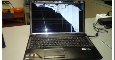 Как исправить треснувший экран ноутбука Lenovo?
