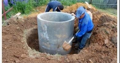 Как копать колодец с бетонными кольцами