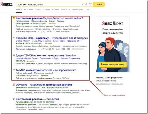контекстная реклама на Яндексе