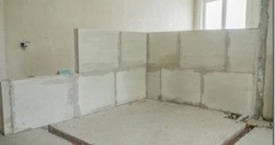 Перегородки из пазогребневых гипсовых плит: особенности монтажа