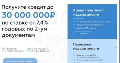 Максимальная сумма кредита и процентная ставка